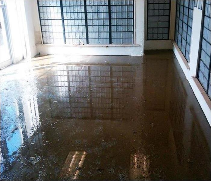 Dirty Floodwater in an Edgewood Mail Room Before